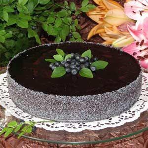 Торт з маком та з чорницею