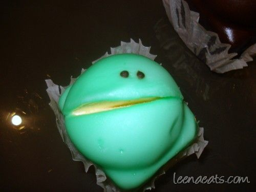 'Eating South Australia - frog cake' quoted by previous pinner • green Balfours frog cake • Adelaide's icons