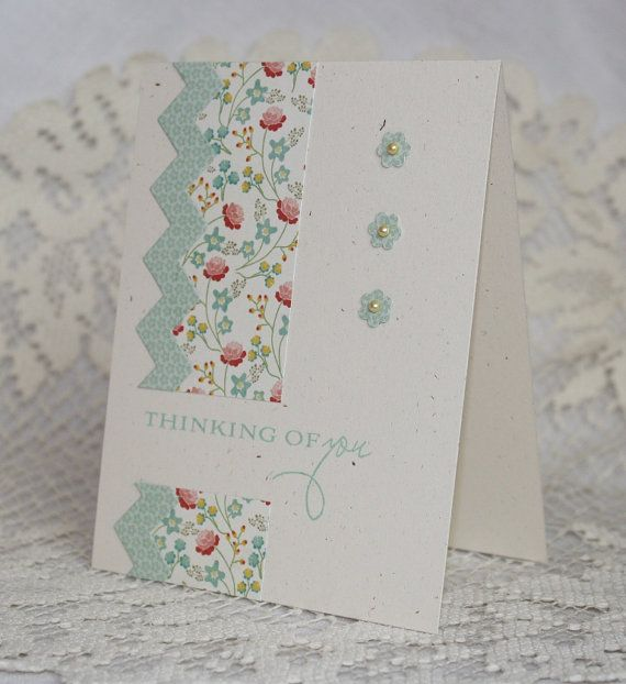 Handmade Greeting Card - Thinking of You via Etsy