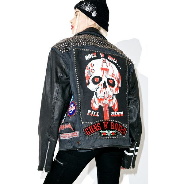 Hazmat Design Vintage Deadstock Denim 'N Leather Jacket ($825) ❤ liked on Polyvore featuring outerwear, jackets, genuine leather jackets, patched denim jacket, utility jacket, real leather jackets and vintage denim jacket