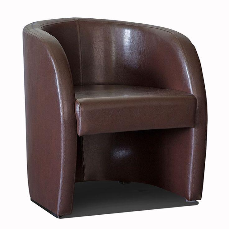 fauteuil cabriolet marron en pvc avec coffre berome fauteuil avec coffre de rangement. Black Bedroom Furniture Sets. Home Design Ideas