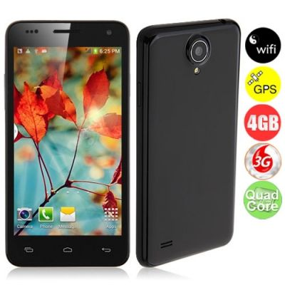 W450 Quad Core Smartphone 3G w / MTK6582 4.5inch 1.3GHz 1GB 4 GB Android 4.2 C�mera 8.0MP Bluetooth WiFi FM GPS - Preto