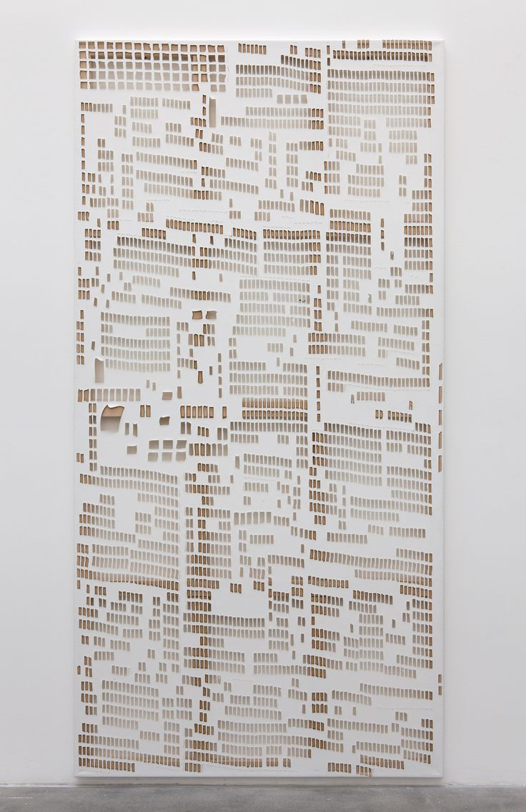 Torn Cheque, Laser Cut Linen, 2013, Hugh Scott-Douglas