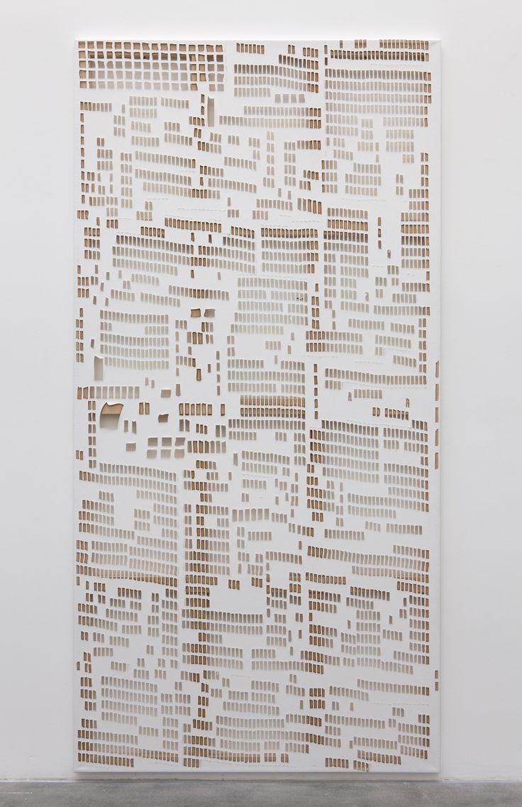 Torn Cheque, Laser Cut Linen, 2013, Hugh Scott-Douglas