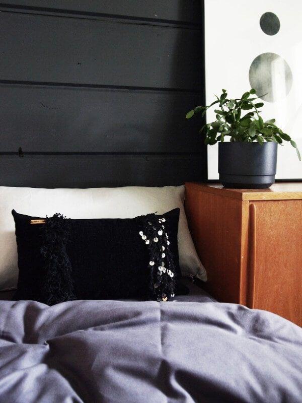 30x50cm Handira Noir-pillow. Modern mid century meets boho.