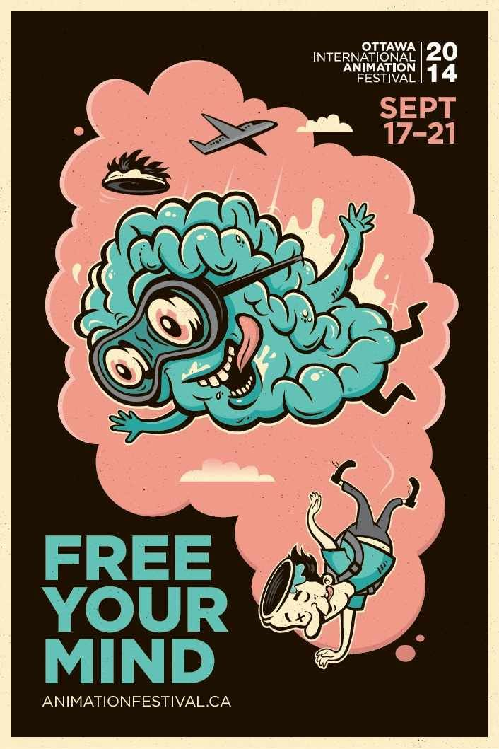 2014 Ottawa International Animation Festival: Free your mind, 3 (Illustrator : Michael Zavacky)