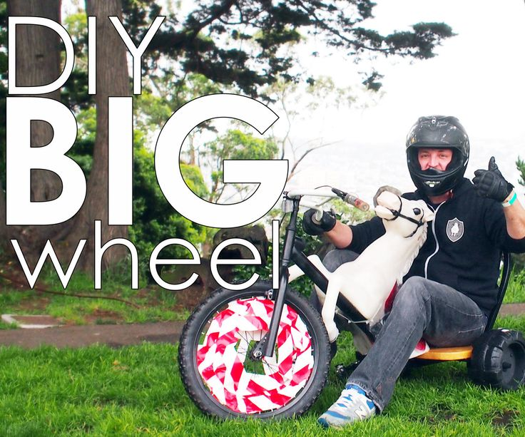When you're a kid, there are few things more fun that exploring on your big wheel. As an adult, I'm much too large to fit into any kind of kid's toy, so I built my own. I made this big wheel to participate in San Francisco's annual Bring Your Own Big Wheel race, which is a downhill event held on the twistiest street in the city. To make by own big wheel I reused parts from my horse bike that I made for my Lone Ranger Costume a few years ago. The horse is optional, but since t...