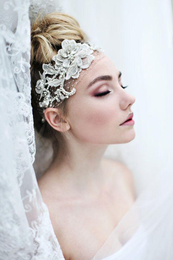 My Fabulous Fiona bridal headband   Romantic by SoBridelicious, $110.00