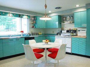 Картинки по запросу бирюзовый цвет в интерьере кухни