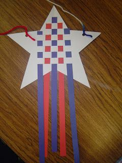 Our Second Graders made these cute stars for their music program.     Click HERE  to get the printable for the Veterans from mak...