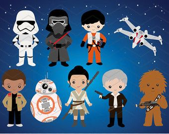 Download Instant Star Wars Clipart, digitale Star Wars Clip Art, ClipArt digitale Star Wars, de partij van de verjaardag van de Star Wars, Star Wars Party 00227