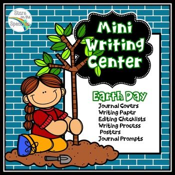 Earth Day Writing by Stars On The Spectrum is a mini Writing Center for Earth Day which includes: 6 Earth Day Writing Process Posters, 8 Earth Day Journal Covers, 8 Earth Day Writing Papers in 2 different styles,2 Earth Day Writing Checklist Posters, Earth Day Student Checklists for self or peer editing, Earth Day Writing Prompts Poster.  See Earth Day Writing Preview for more information.