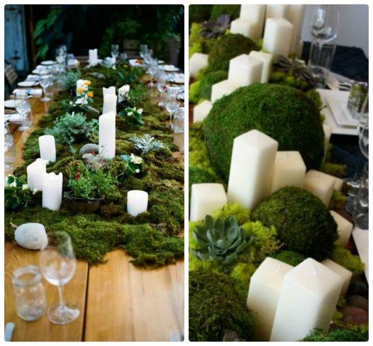 мох в декоре свадьбы - Поиск в Google