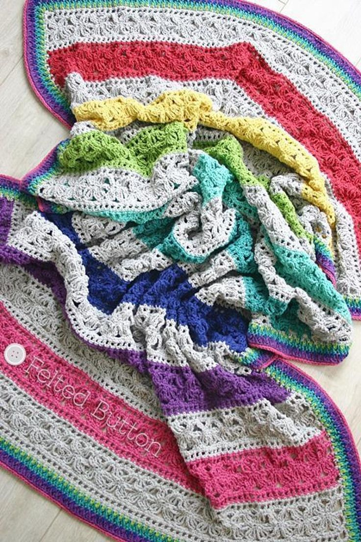 149 best Crochet > Rainbow Colors images on Pinterest | Mantas de ...