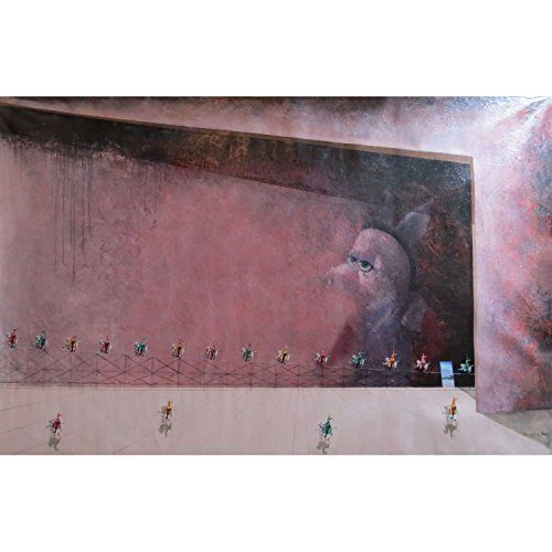 "Artist: TRINO SANCHEZ, Title: Perspectiva Invertida, 51.18""x82.67"" - Decorative Surrealism Painting on Canvas for home decoration, 100% Hand Painted, Unique Work, Unframed / Unstretched Trino Sanchez http://www.amazon.com/dp/B00OJOM49I/ref=cm_sw_r_pi_dp_tPwTub0M4HAA2  #art #arte #trinosanchez #galeria @mlbipolas apoyando el Arte"