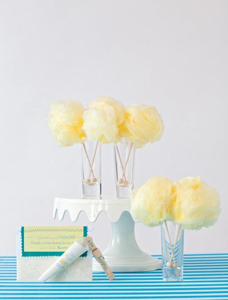 pineapple cotton candy favorsCottoncandy