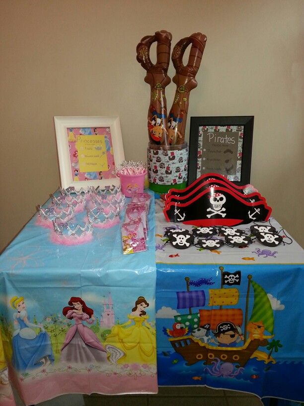 Pirate and Princess party - party accessories, table clothes