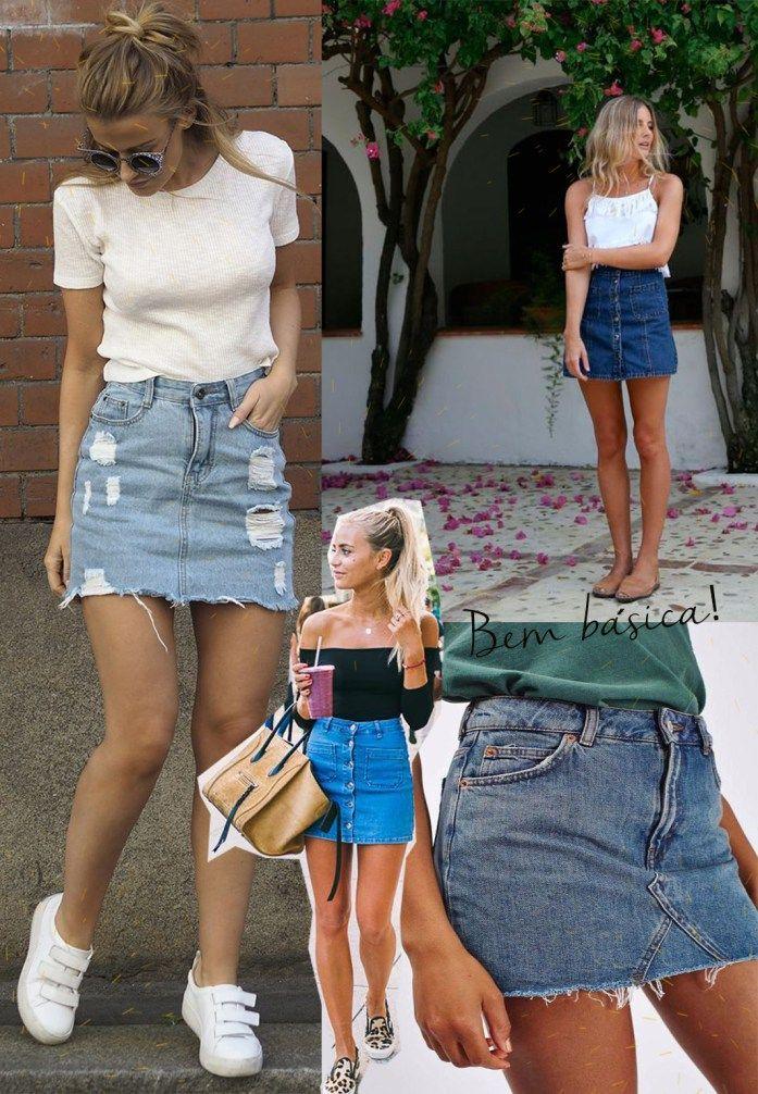 Look do FDS: Veja como ser COOL usando Mini saia jeans !!
