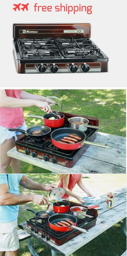 Camping Stoves 181386: Burner Stove Top Outdoor Cooking Propane Gas Portable Black Camping Griddle New -> BUY IT NOW ONLY: $89.99 on eBay!