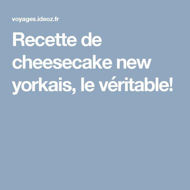 Recette de cheesecake new yorkais, le véritable!