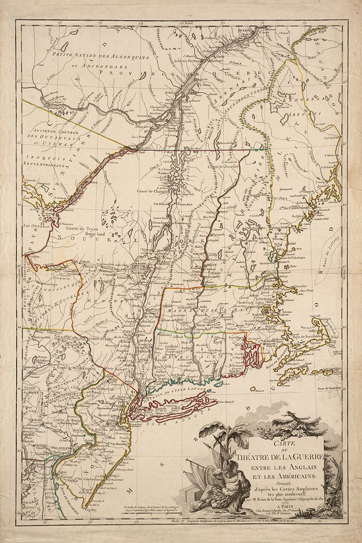 Reproduction print of a vintage 1777 map
