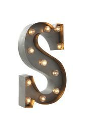 letter marquee light, S