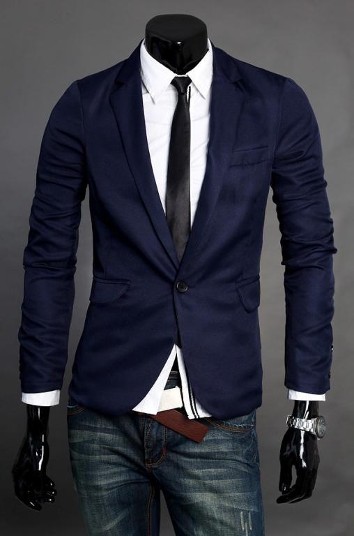 Мужской пиджак_4 цвета_Хит продаж_№272(синий)