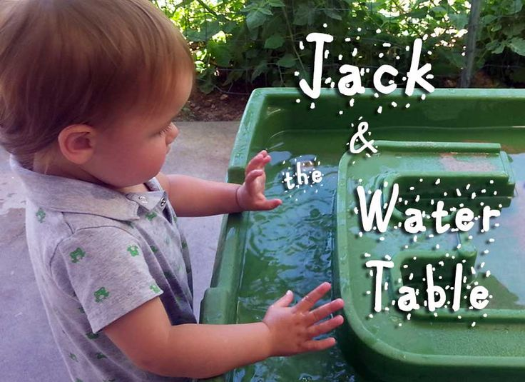 Jack & the Water Table: Step 2 water table review