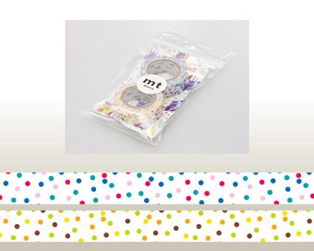 Washi Tape MT Drop Pink x Yellow
