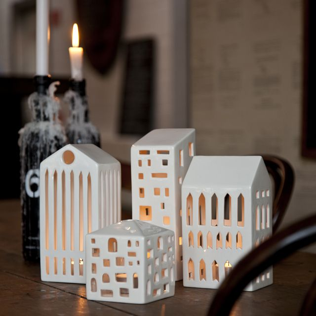 The six beautiful Urbania houses have been designed with inspiration from traditional Christmas decorations, and their simple and poetic look fits perfectly into the modern home.
