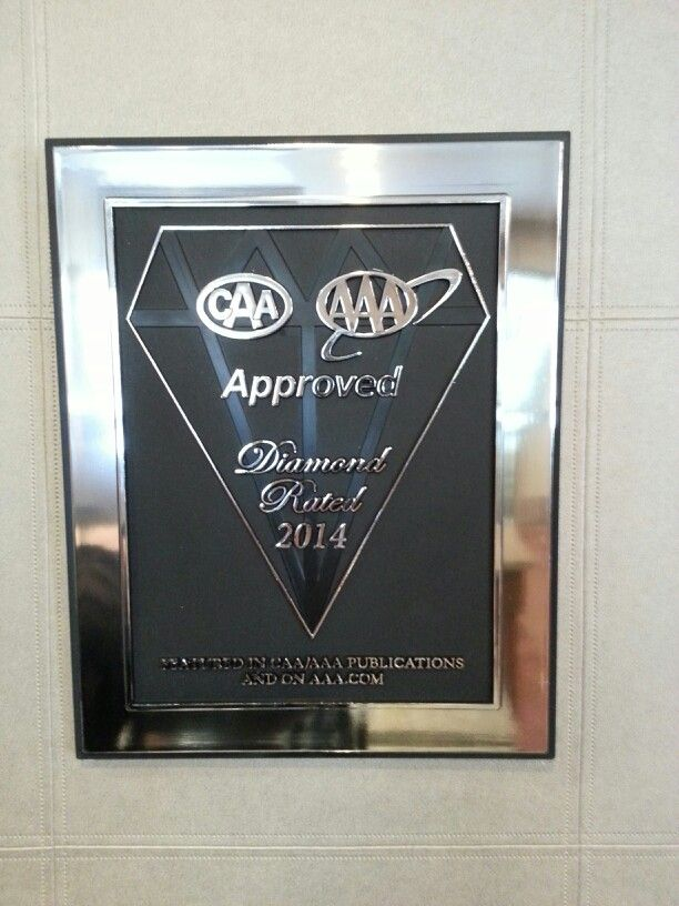 We are a CAR/AAA Diamond Approved property for 2014! If you are a valid AMA member,  we have special rates for you!