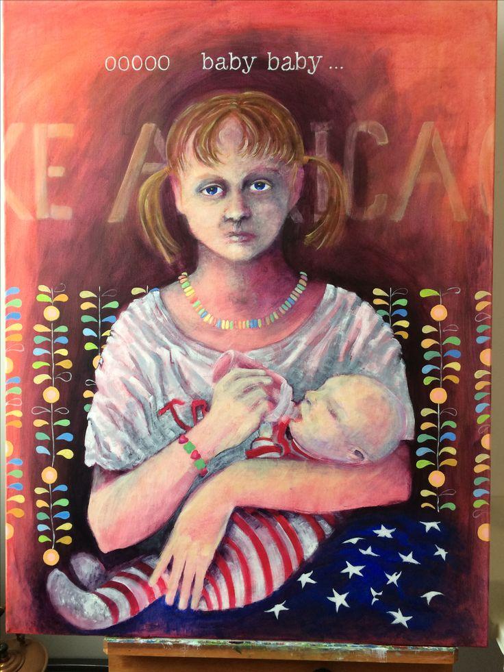 "Acrylic painting, ""Ooooo baby baby"""