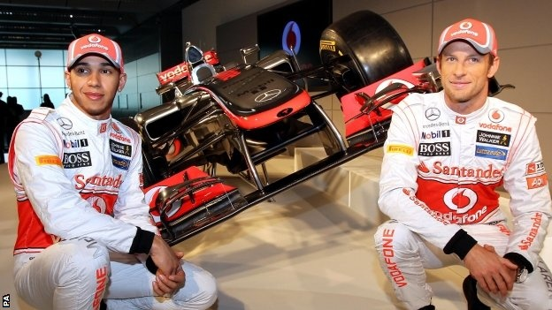 Hamilton and Button with the 2012 F1 McLaren