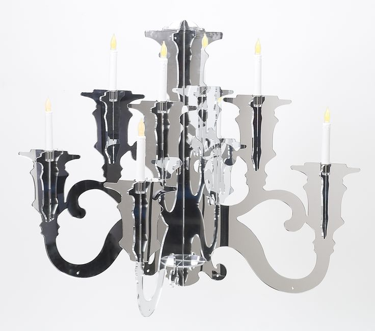 Baroque acrylic chandelier lig38 all acrylic baroque for Plastic baroque mirror