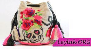 İşlemeli motifli örgü wayuu çanta modelleri | Leylak.ORG
