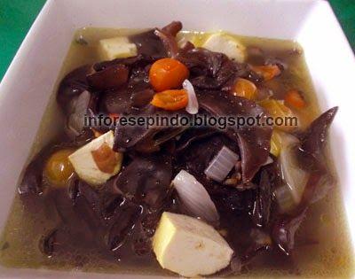 Sayur Bening Jamur Kuping - Resep Masakan Indonesia