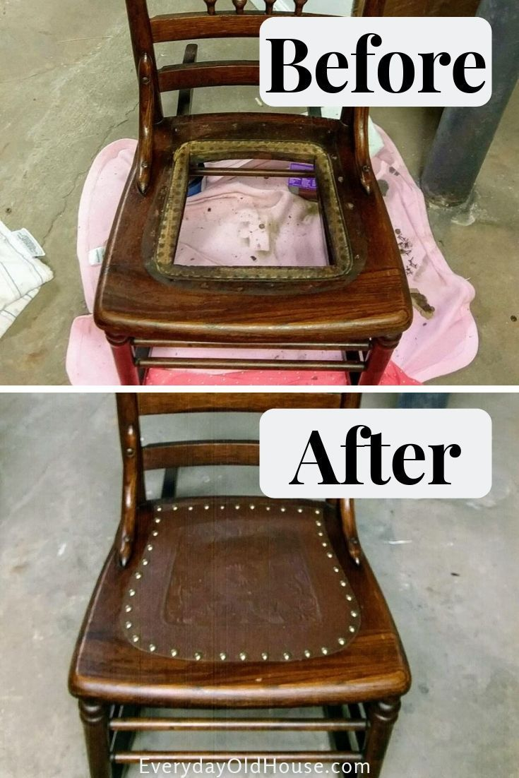How To Replace A Leather Seat In An Antique Chair Everyday Old