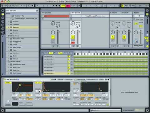 Ableton Live Tutorial - Create Snare Drum w/ Found Sounds (Part 2)