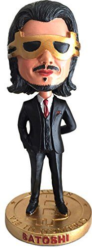 Satoshi Nakamoto Bitcoin Bobble Head | Cryptocurrency Limited Edition Collector's Item * Click image for more details.