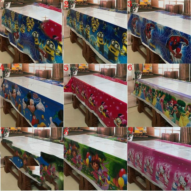 Minions Plastic Table Cover Birthday Party