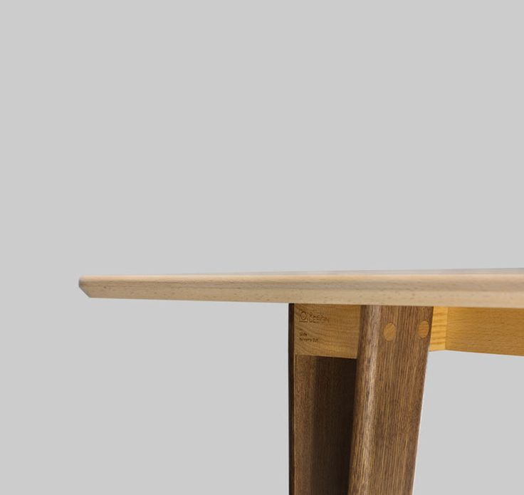 Glide solid wood plat-pack table by Henry Sun at Still Design co. #furnituredesign #table