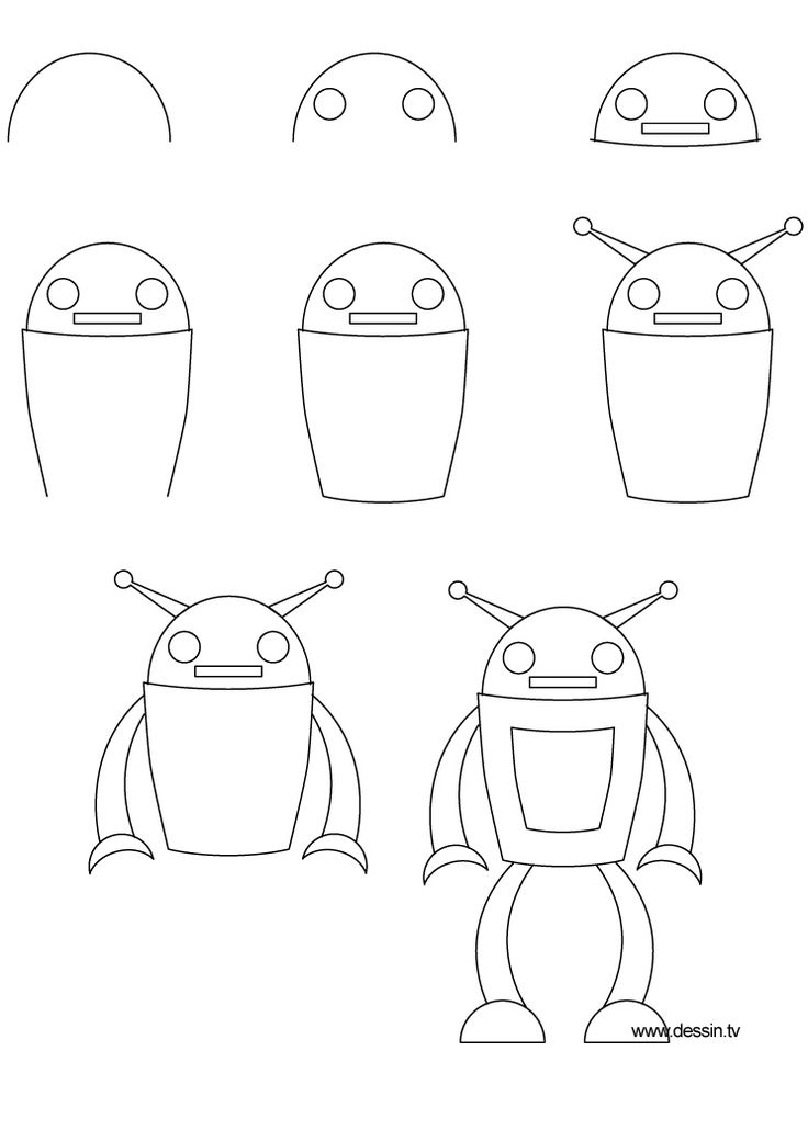 25  best ideas about how to draw robots on pinterest