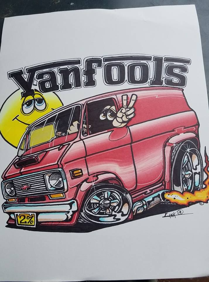 Peel and Stick VinVanCo 3rd Generation Chevy Vintage Van Sticker