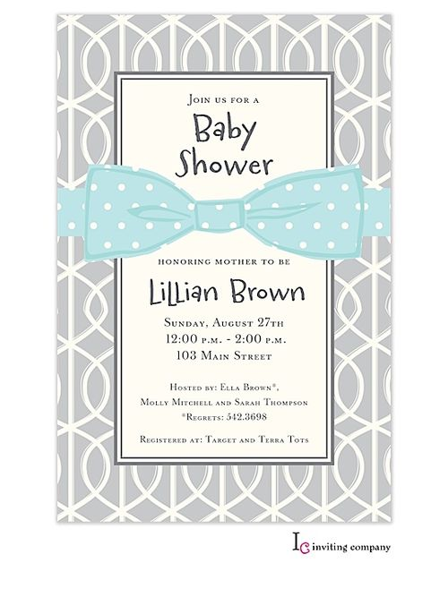 bow baby shower baby shower stuff blue baby showers invitations baby