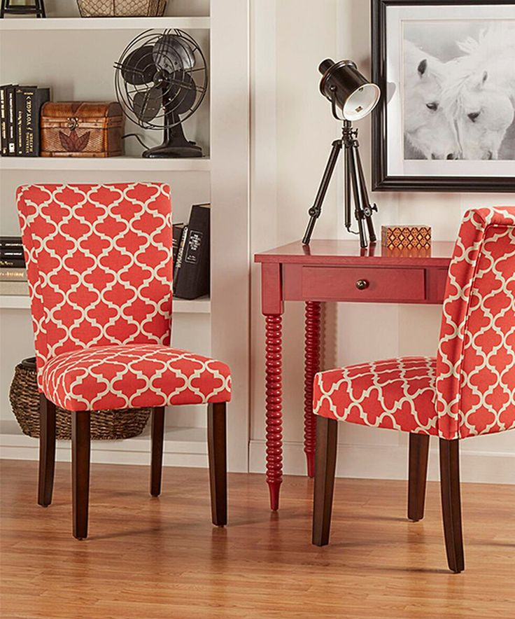 homebelle red starlite moroccan accent chair set of two - Red Living Room Chairs