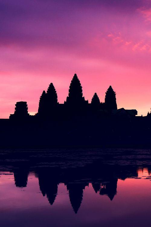 Angkor Wat Sunrise, Siem Reap, Cambodia