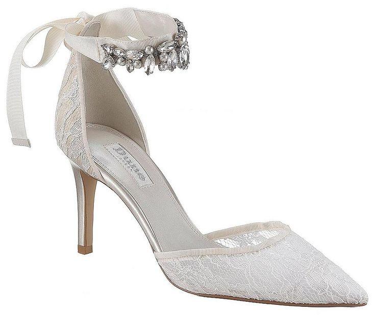 Dune London Spangenpumps »Bridal lace open court«