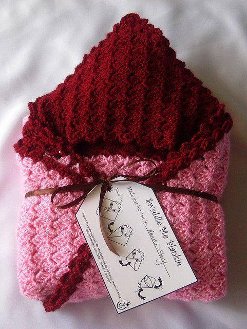 baby swaddling blanket crochet pattern.
