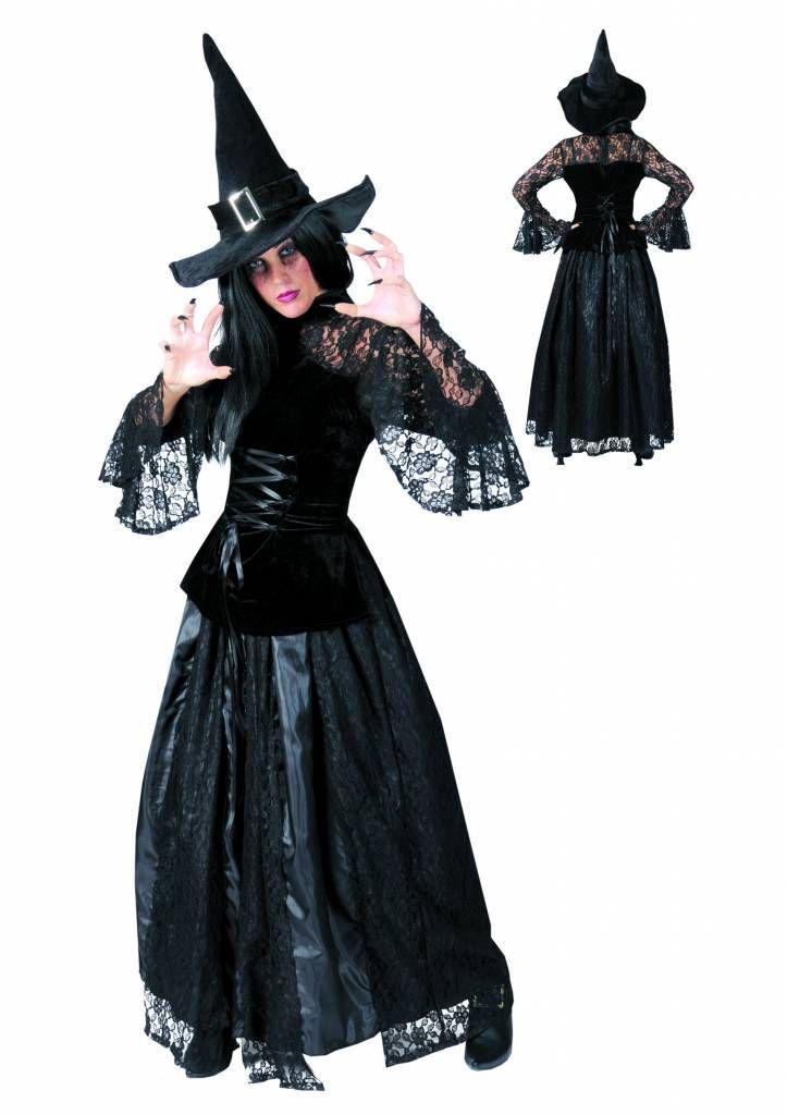 Heksen jurk Christine voor Halloween - e-halloweenkleding.nl