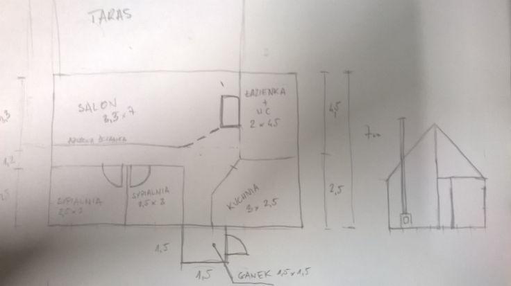 Pomysł domu 60m2 dla Izy i Piotrka.